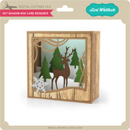5X7 Shadow Box Card Reindeer
