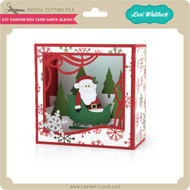 5X7 Shadow Box Card Santa Sleigh