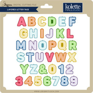 Layered Letter Tags