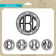 Monogram Basic Merry Christmas Ring