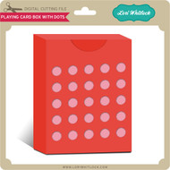 Playing Card Box with Dots