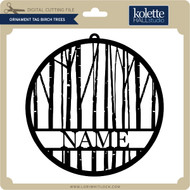 Ornament Tag Birch Trees