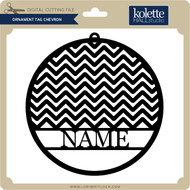 Ornament Tag Chevron