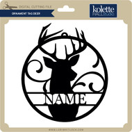 Ornament Tag Deer