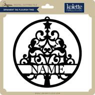 Ornament Tag Flourish Tree