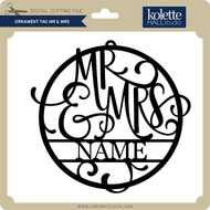 Ornament Tag Mr & Mrs