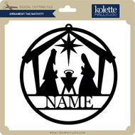 Ornament Tag Nativity