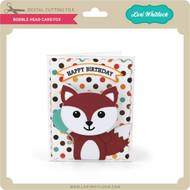 Bobble Head Card Fox