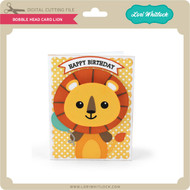 Bobble Head Card Lion