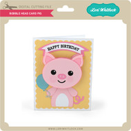 Bobble Head Card Pig