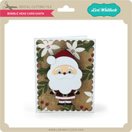 Bobble Head Card Santa
