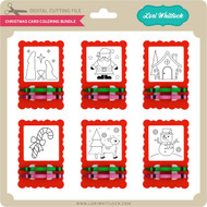 Christmas Card Coloring Bundle