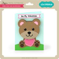 Bobble Head Card Valentine Bear