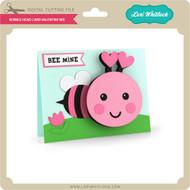 Bobble Head Card Valentine Bee