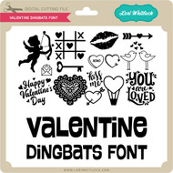 Valentine Dingbats Font