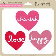 Heart Word Cherish Love Happy
