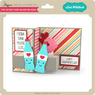 Pop Up Box Card Valentine Soda