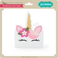 Unicorn Head Card Flower