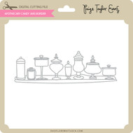 Apothecary Candy Jars Border