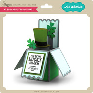 A2 Box Card St Patrick Hat