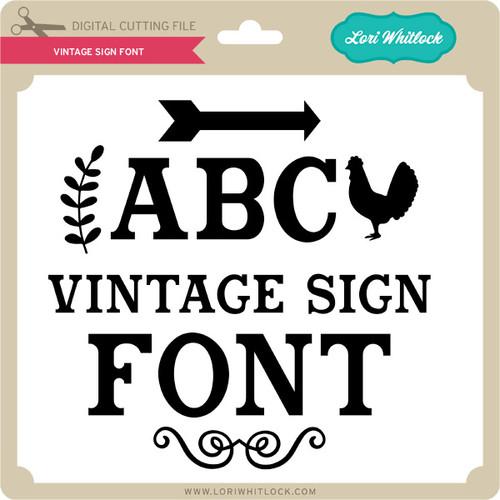 Vintage Sign Font 299 Image 1