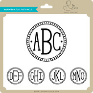 Monogram Full Dot Circle