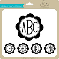 Monogram Full Flower Circle