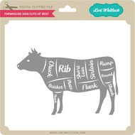Farmhouse Sign Cuts of Beef