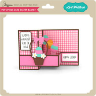 Pop Up Box Card Easter Basket