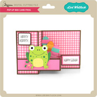 Pop Up Box Card Frog