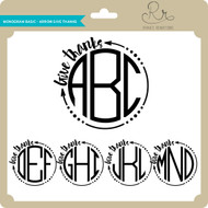 Monogram Basic Arrow Give Thanks