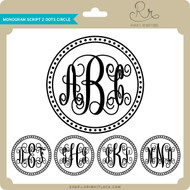 Monogram Script 2 Dots Circle
