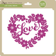 Love Floral Wreath