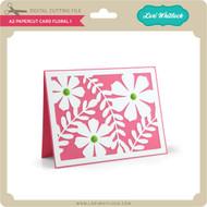 A2 Papercut Card Floral 1