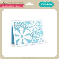 A2 Papercut Card Floral 2