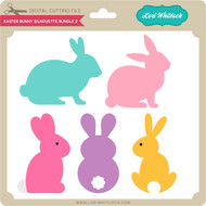 Easter Bunny Silhouette Bundle 2