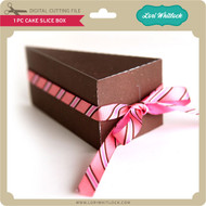 1 pc Cake Slice Box