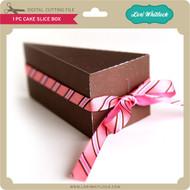 1 pc Cake Slice Box