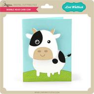 Bobble Head Card Cow