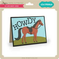 A2 Card Howdy Horse