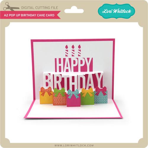 A2 pop up birthday cake card lori whitlocks svg shop a2 pop up birthday cake card 199 image 1 bookmarktalkfo Gallery
