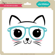 Cat Face With Glasses