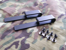 Black IWB Injection Molded J-Hook Belt Clips