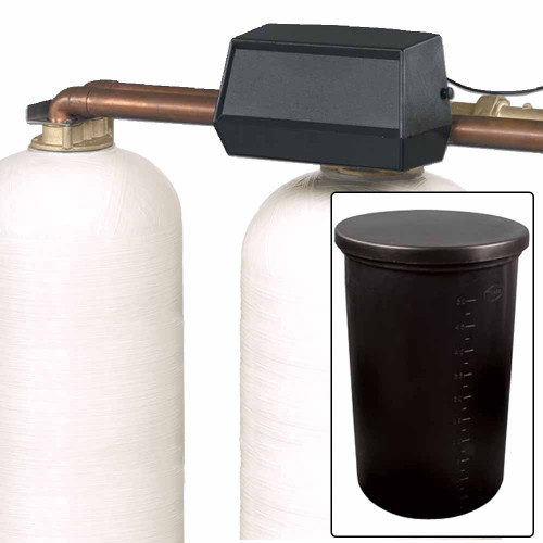 150k Commercial High Flow Dual Tank Water Softener with Fleck 9500 On-Demand