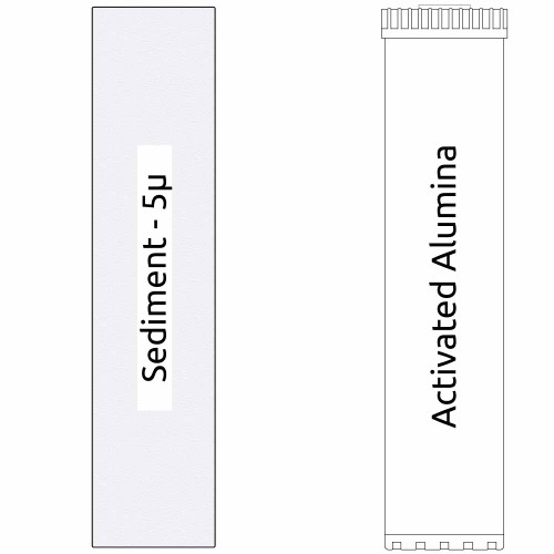 20-inch Big Blue 2 Stage Filter Kit with Activated Alumina & Sediment Filter