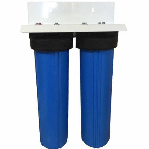 20-inch 2 Stage Big Blue Whole House Filter with Bone Char Carbon & Activated Alumina Filter - Ultimate Fluoride System