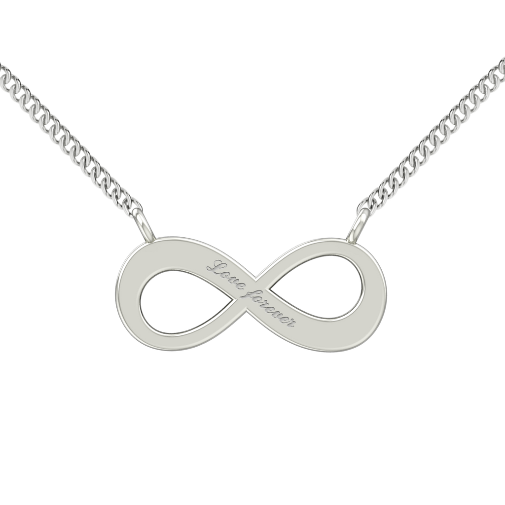Infinity Necklace - 14ct White Gold