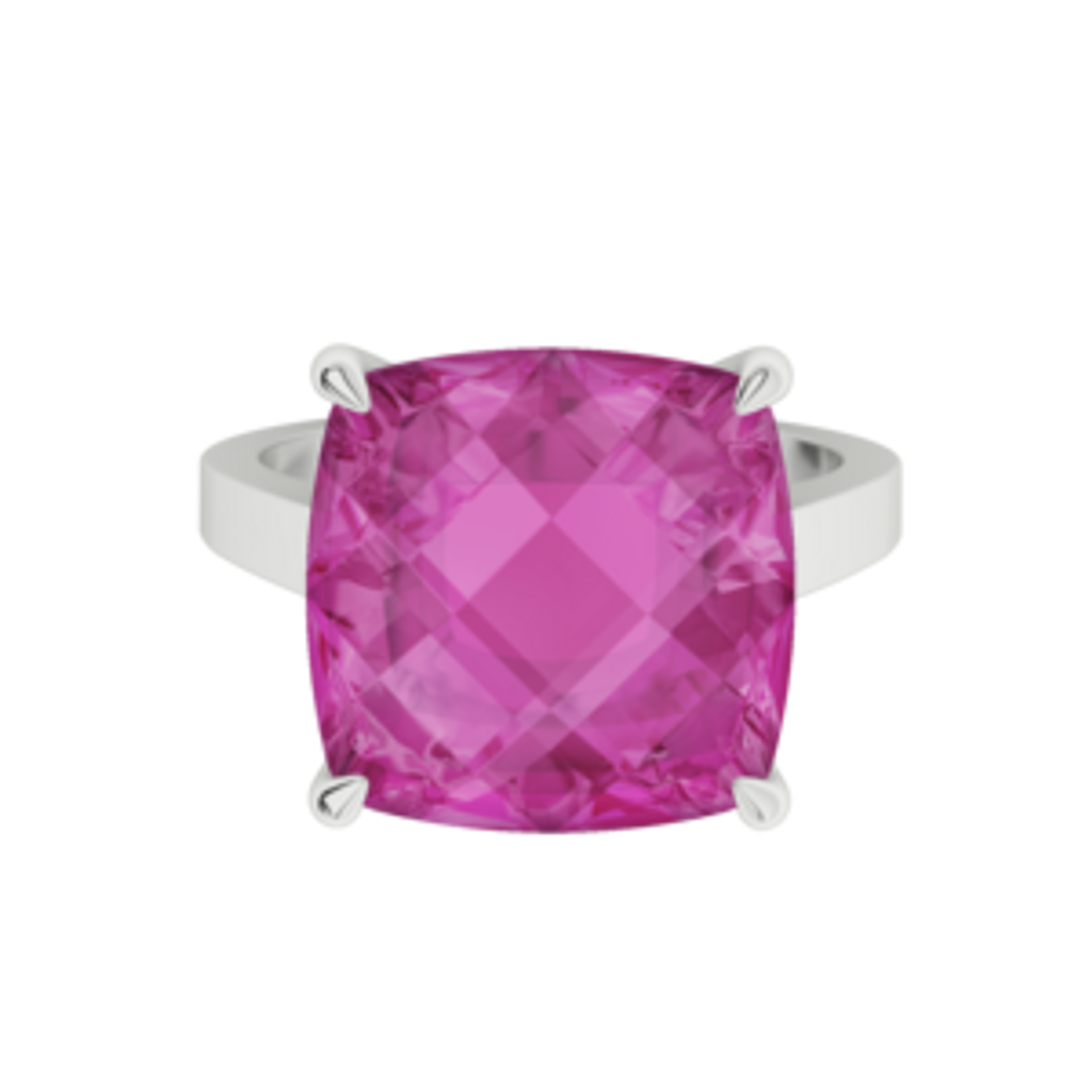 stylerocks-pink-sapphire-cushion-checkerboard-white-gold-ring-front