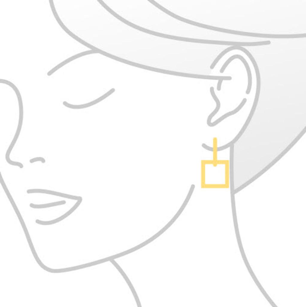 Blue Topaz Yellow Gold Drop Earrings