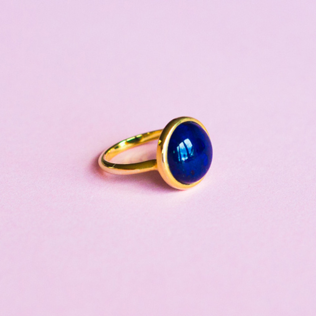 **Lapis lazuli 9 carat yellow gold ring - as featured in Marie Claire**